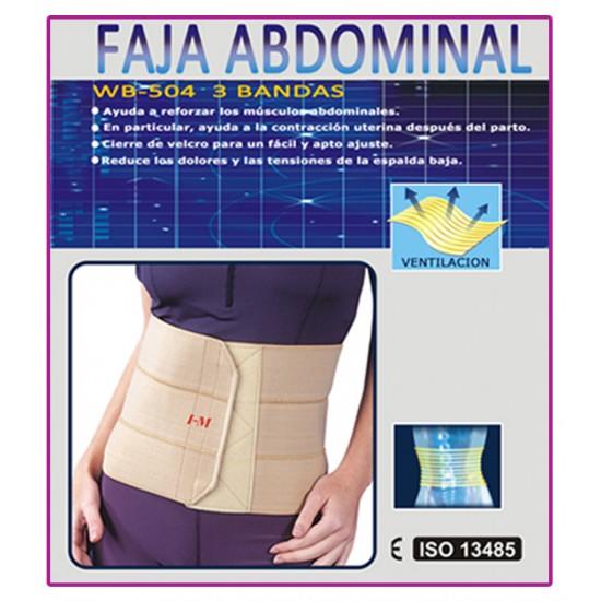 Faja abdominal 3 bandas